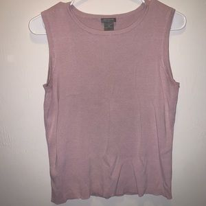Pink Ribbed Cut Off